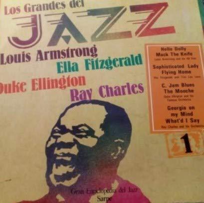 los grandes del jazz 1, Armstrong, fitzgerald, Ellington, Charles - sarpe vinilo