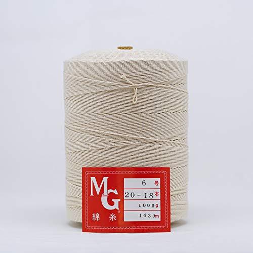 綿糸 20番 18本 1�s チーズ巻 【太さ1.2�o 長さ1,540m】