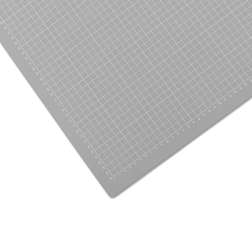 Selbstheilende Schneidematte, 90 x 120 cm | Mit Hilfslinien, Schont Klingen | Schneide-Unterlage, Cutting Board/Mat für Patchwork | graue Bastelmatte, Bastelunterlage, Arbeitsunterlage | Beidseitig verwendbar als Nähunterlage