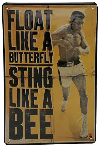 Mehr Relief-Schilder hier... Muhammad Ali, Boxer, hochwertig geprägtes Retro Blechschild 30 x 20 cm, Portrait Reproduktion Wanddekoration