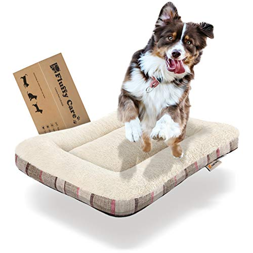 Dog Bed Crate Pad MatPetBed Puppy Bed Mat Mattress Kennel Pads30x21 Inches for Medium Small Dogs Cats Machine Washable Super Soft Cozy Non-Slip Bottom