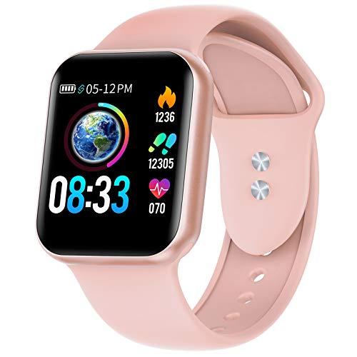 Smartwatch, KUNGIX Smart Watch mit Blutdruckmessung IP68 Wasserdicht Fitness Uhr Mit Pulsmesser Schrittzähler für Damen