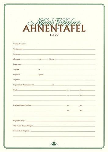 RNK Verlag 2801 Ahnentafel Meine Vorfahren, DIN A2