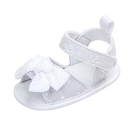 Zapatos de Bebe Niña,Fossen Primeros Pasos Bowknot Antideslizante Suela Blanda Paño Sandalias para Recién Nacido