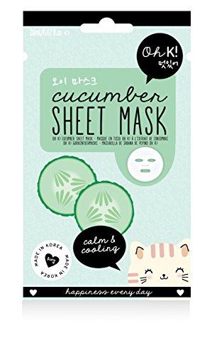 Oh K! Erfrischendes Gesichtsmaskentuch – Gurken-Tuchmaske