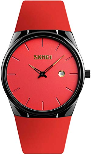 Herrenuhr Minimalistische Armbanduhr Ultradünn Männer Mode Elegant Quartzuhr Datumsanzeige