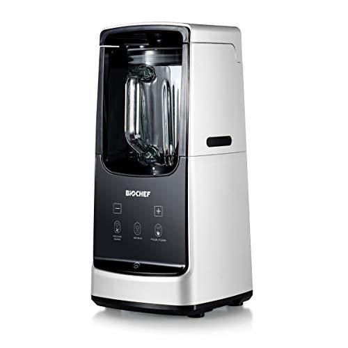 BioChef Astro Vakuum Mixer - Smoothie Maker Standmixer - 1000 W, 22000 U/Min, Glas Behälter, Manuelle Geschwindigkeitsstufen einstellbar von 1-9, Impuls/Reinigung Funktion (Weiß)