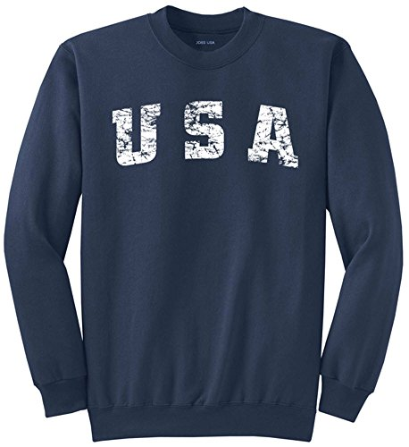 Vintage USA Logo Crewneck Sweatshirt-Large Navy