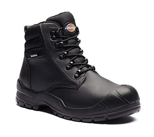 Dickies FA9007 BK 10 Trenton Sicherheitsstiefel, Leder, Größe 44, schwarz
