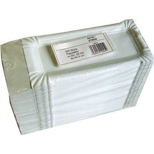 Wursttablett mit Abriss 8 x 21 cm - weiß - 250 Stück/Paket