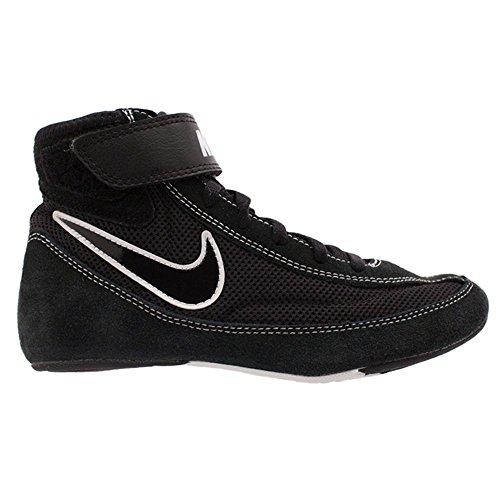 Nike Kids Speedsweep VII Wrestling Shoe Black/White/Black Size 12C