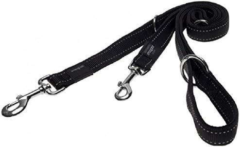 Rogz Utility Multi Dog Lead, Black, Large