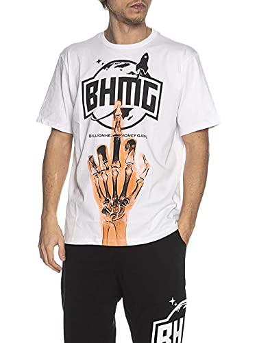 BHMG Camiseta Sfera & Charlie de hombre, blanca blanco L