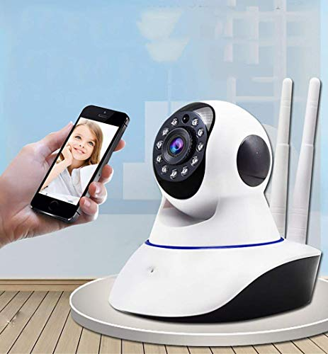 V380 Pro Wireless Home and Office Ultra HD 720P IP CCTV Security Camera with WiFi Wireless Connectivity, 2 Way Audio and Support 64Gb Sd Card - (White)