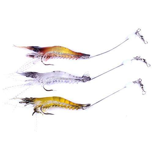 VOANZO 6 pièces leurre de pêche aux crevettes Souples...