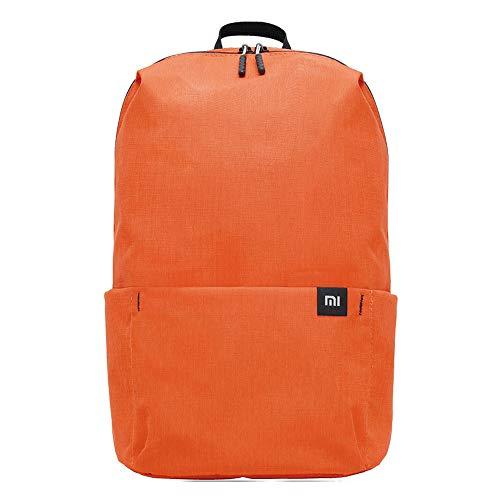 Xiaomi Mi Casual Daypack Wasserdichter Unisex Rucksack (Wasserschutzklasse IPX4, 10 Liter Stauvolumen, 1 Hauptfach, 4 Außenfächer, hochwertige YKK Reißverschlüsse, Leichtgewicht: 165g) Orange (Orange)