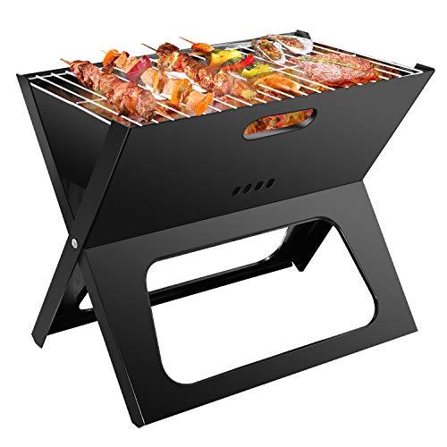 Ledeak Barbacoa portátil, Plegable Grill Barbecue de Acero Inoxidable Barbacoa Carbón Parrilla, Fácil de Usar y Limpiar, Aire Libre cocinar Camping Senderismo Picnic Backyard