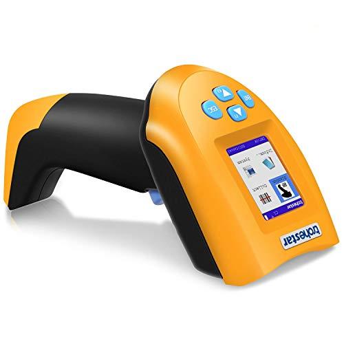 TroheStar Wireless Barcode Scanner, USB Barcode Scanner Handheld kabellos 1D Laser Automatische Barcode Leser mit Intelligenten TFT-Farb-LCD-Bildschirm, 50m Reichweite