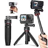 Ulanzi GoPro三脚スタンド クリックリリース goproセルカ棒 3段伸縮 自撮り棒 + 三脚 + セルカ棒 gopro 9 Max Hero 8 Pro,7,6,5, 4, Session, 3+, 3, 2, 1 アクションカメラ 対応 一年間保障