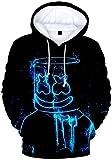 OLIPHEE Niños Sudaderas con Capucha Impresas en 3D para Música Pop para fanáticos de DJ 249-1