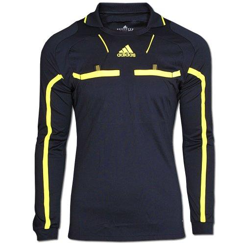 Adidas Schiedsrichter Trikot REFEREE JERSEY L/S Gr.S schwarz-gelb (P49176)
