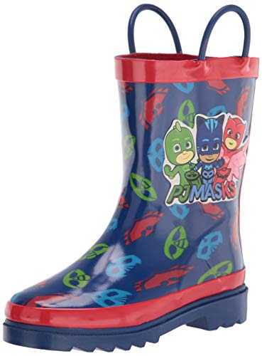 PJ Masks Little Boys' Character Printed Waterproof Easy-On Rubber Rain Boots - Size 10 Toddler
