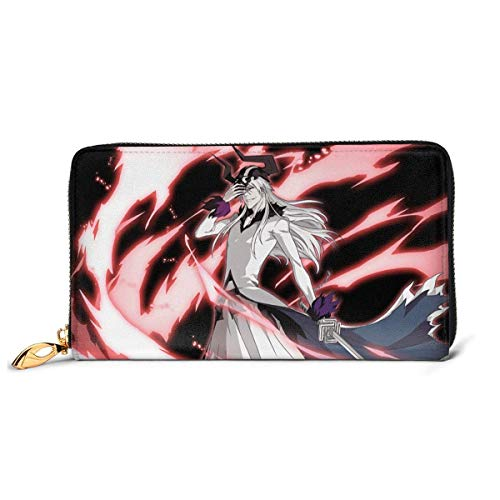 BGHYT portafoglio Men's White Zangetsu Ichigo's Zanpakuto Anime Genuine Leather Long Wallet