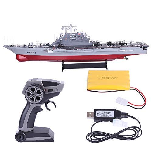 ZUJI Barco Teledirigido 1:360 2,4G RC Barco Militar Buque de Guerra Grande...