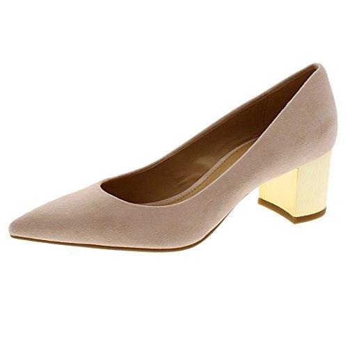 Zapatos Mujer Salones Peep_Toes Michael Kors Paloma Flex Mid Rosa 36I5