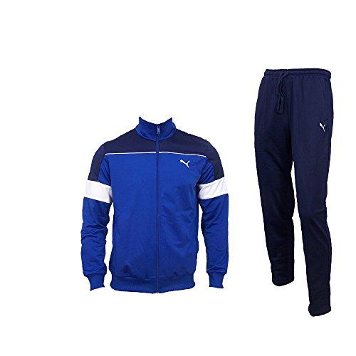 Puma Herren Trainingsanzug Fun Tricot CB Suit OP, Peacoat-Limoges, S, 830049 10