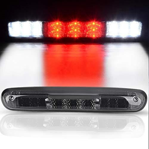 DWVO 3rd Brake Light Compatible with 2007-2014 Chevrolet Silverado GMC Sierra 1500 2500 3500 Red/White LED Smoke Lens High Mount Third Brake Light Cargo Tail Lamp