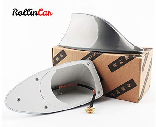 ROLLIN Antena Coche Universal de Aleta Tiburon para Techo