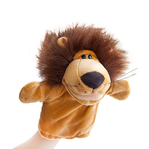 Hand Puppets Jungle Animal Friends with Working Mouth for Imaginative Play, Storytelling, Teaching