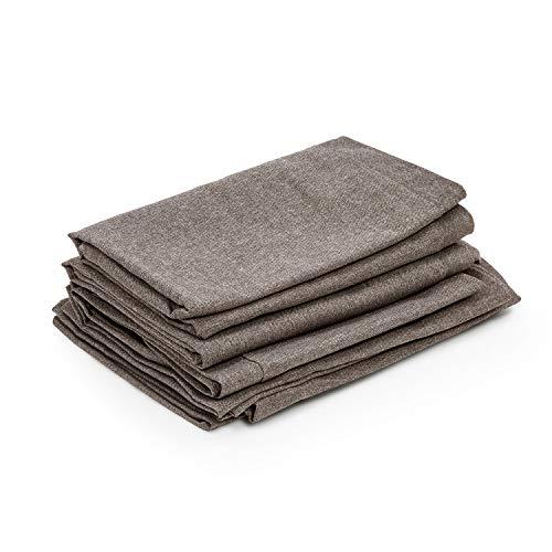 blumfeldt Titania Dining Set Polsterbezüge - Material: 100% Polyester gewebt 220 g/m², wasserabweisend, geeignet für Handwäsche, 10-teiliges Zubehör-Set, braun