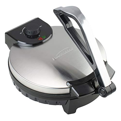 Brentwood TS-129 Stainless Steel Non-Stick Electric Tortilla Maker, 12-Inch