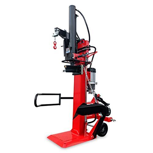 CROSSFER Holzspalter LS30T-PTO+E400V / 30 Tonnen Spaltkraft / 110cm Spaltlänge/Zapfwellenantrieb Dreipunkt + 5,5kW Elektromotor 400V / 2 Hand Bedienung/inkl. Hydraulische Seilwinde 490 Kg Zugleistung