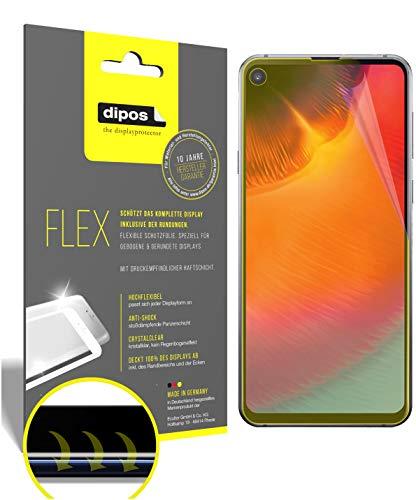 dipos I 3X Schutzfolie 100prozent passend für Samsung Galaxy A8s Folie I 3D Full Cover Bildschirmschutzfolie