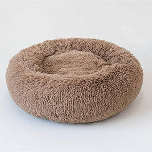 N-B Pet Bed, Round Cat and Dog Winter Warm Sleeping Bag Plush Soft Pet Bed Comfort Bed Pet Nest Round Depth Pet Nest