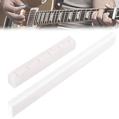 Juego de puente de guitarra de hueso, puente de guitarra, nuez y sillín, para guitarra, puente sostenible, puente de guitarra, tuerca de repuesto para guitarra acústica clásica