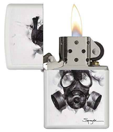 Zippo Unisex spazuk máscara de Gas Mechero con Normal, Color Blanco Mate, Talla única 1
