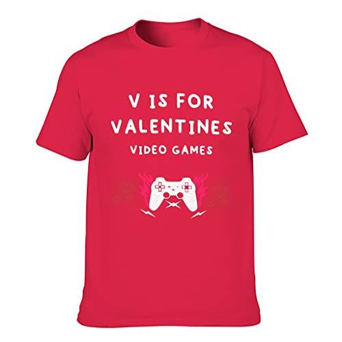 Camiseta de algodón para hombre en V es para San Valentín Videojuegos Cool Individuality - Tee