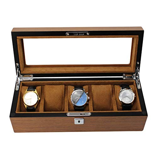 FACAIA Caja de Reloj Grande para Hombres, 5 Ranuras para Relojes, Organizador...