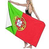 AIMILUX Toalla de Playa,Bandera de Portugal Imprimir,Toallas de Baño Toallas de Acampada Piscina Natación Playa Toallas de Mano Ducha Toallas de Mano