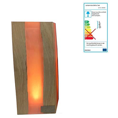 Lampenmanufaktur Saar Tischleuchte Cube L 23 x 10 x 10 cm LED Leuchte Batterie