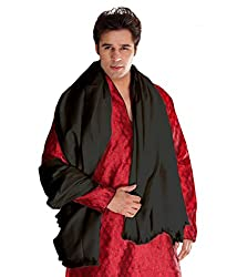Weavers Villa Cream/Black/Kesari Cashmere Lohi, Shawls for Men