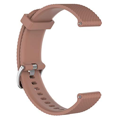 Sunhoyu Ersatzarmband für Polar Vantage M Smartwatch, silikon armband strap einstellbar flexible sportuhr zubehör für Polar Vantage M Sport Fitness-Uhrenzubehör (L, Brown)