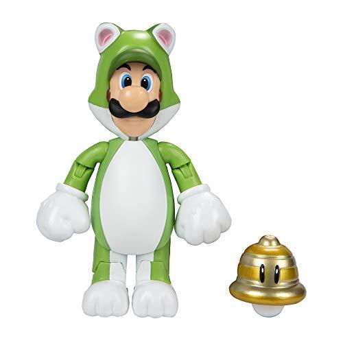 Nintendo 10cm Super Mario Actionfigur 10 cm, Luigi als Katze mit Glocke