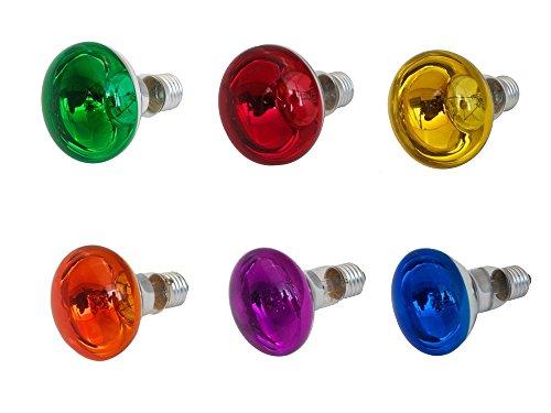 R80 Strahler 230V 40W E27 für Lichtorgel blau rot gelb lila grün orange Ersatzbirne Ersatzbirnen Birne Birnen Lichteffekt