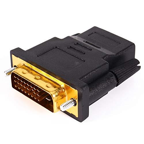 PUSOKEI Adaptador de Interfaz Multimedia HD, DVI 24 + 1 Macho a HDMI Hembra Adaptador de Cable de PC para Monitor LCD de computadora LCD HDTV Digital