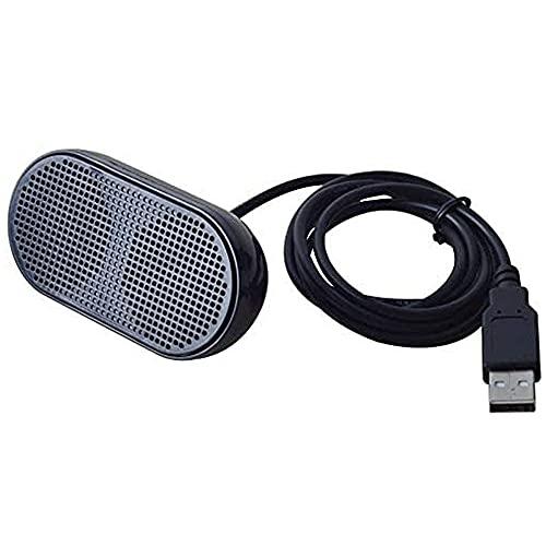 UKHONK Mini Altavoz USB Altavoz portátil Multimedia estéreo con Altavoz para portátil PC portátil (Negro)